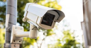 Close-up Of Security Camera On The Street
